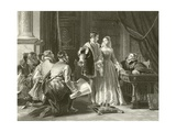 Lady Jane Grey's Reluctance to Accept the Crown Giclee Print by Charles Robert Leslie