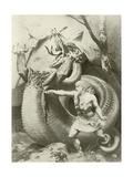 Siegfried, Act II Scene VI Giclee Print by Konrad Dielitz