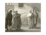 Volumnia Reproaching Brutus and Sicinius Giclee Print by Sir James Dromgole Linton