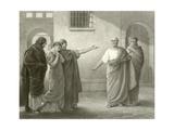 Volumnia Reproaching Brutus and Sicinius Giclee Print by Sir James Dromgole Linton