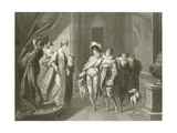 The Interview Between Edgar and Elfrida Giclee Print by Angelica Kauffmann
