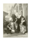 The Turkish Letter Writer Giclee Print by Thomas Allom