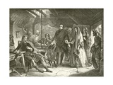 The First Meeting of Prince Charles with Flora Macdonald Giclee Print by Alexander Johnston