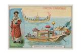 Chinese Mandarin Admiral and Gondola Giclee Print