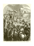 Pope Urban II Preaching the First Crusade in the Market-Place of Clermont Giclee Print