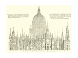 A Parallel of Some of the Principal Towers and Steeples Built by Sir Christopher Wren Giclee Print
