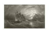 Hms Galatea on a Cruise Giclee Print by Oswald Walter Brierly