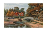 Brockley Water Splash, Brockenhurst Giclee Print by Alfred Robert Quinton