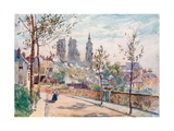 Laon from the Boulevards Giclee Print by Herbert Menzies Marshall