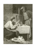 A Russian Peasant's Home Giclee Print by Adolphe Yvon