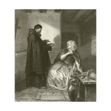 Juliet in the Cell of Friar Lawrence Giclee Print by Edgar Melville Ward