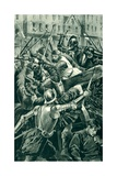 The Earl of Angus and His Spearmen Attacked by Sir Patrick Hamilton Giclee Print by Alfred Pearse