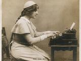 Miss Edna May, at Typewriter Papier Photo
