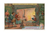 The Young Shakespeare Reading to His Family, 1574 Giclee Print