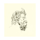Union of a Human Face with That of a Goat, from the Villa Albani Giclee Print