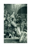 Scene in Hall of a Highland Chieftain in the Seventeenth Century Giclee Print by Herbert James Draper