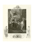 William I Receiving the Crown of England Giclee Print by Benjamin West