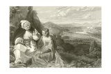 The Fair Maid of Perth and Carthusian Monk Giclee Print by Alexander Chisholm