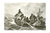 Leif Ericson Off the Coast of Vineland Giclee Print by Oscar Arnold Wergeland