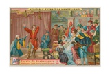 Shakespeare Performing before Queen Elizabeth I in 1595 Giclee Print