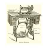 Sewing Machine Reproduction procédé giclée