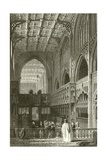 Interior of the Collegiate Church, Manchester Giclee Print by Thomas Allom