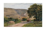 The Long Man, Wilmington, Eastbourne Giclee Print by Alfred Robert Quinton