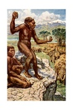 Neanderthal Mankind Giclee Print by Harry Hamilton Johnston