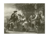 Goldsmith on His Travels Giclee Print by Edgar Melville Ward