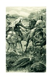 The Countess of Carrick and Robert De Bruce Giclee Print by Alfred Pearse
