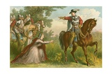 A Coventanter Carried Off by Dragoons Giclee Print by Keeley Halswelle