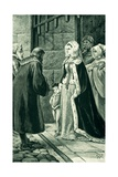 Queen Margaret, Widow of James IV, Defies the Nobles Giclee Print by Alfred Pearse