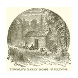 Lincoln's Early Home in Illinois Giclee Print