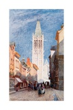 Rue De L' Horlage, Rouen Giclee Print by Herbert Menzies Marshall