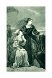 Mary Queen of Scots Bids Adieu to France Giclee Print by Edouard Jean Conrad Hamman