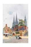 A Street Corner, Bayeux Giclee Print by Herbert Menzies Marshall