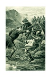 Wallace, Attacked by Lord Percy's Followers Giclee Print by Alfred Pearse