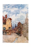 A Street in Troyes Giclee Print by Herbert Menzies Marshall