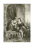 Romeo and Juliet. Act III-Scene V Giclee Print by Felix Octavius Carr Darley