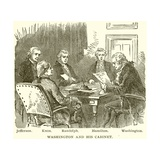 Washington and His Cabinet. Jefferson. Knox. Randolph. Hamilton. Washington Giclee Print
