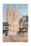 The Cathedral Front St. Lo Giclee Print by Herbert Menzies Marshall