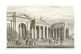 Bank of Ireland, Dublin, South Portico Giclee Print by George Petrie
