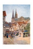Rue De La Porte Guillaume, Chartres Giclee Print by Herbert Menzies Marshall