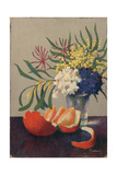 Still Life with Flowers and an Orange Giclee Print by Felix Elie Tobeen