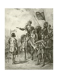 King Henry Fifth V. Act IV, Scene VII Giclee Print by Felix Octavius Carr Darley