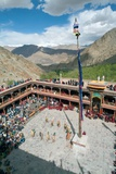 Rooftop View of Performers and Spectators at the Annual Tshechu Festival, Hemis Monastery, Ladakh Photographic Print