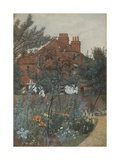 View of a Garden in Bedford Park, 1885 Giclee Print by Frederick Hamilton Jackson