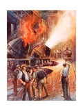 The Birth of the Giant of Modern Industry Giclee Print by Charles John De Lacy