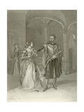 Othello. Act IV, Scene II Giclee Print by Felix Octavius Carr Darley