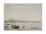 The Pond Giclee Print by Henri Duhem